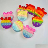 Favor Event Festive Party Supplies Home & Gardenpush It Fidget Toys Coins Purse Net Red Finger Bubbles Sensory Childrens Small Bags Coin Zip