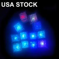 LED Artificial Luminous Cubos de Gelo Luzes Bar Cubo de Cristal Light-up brilhando para a festa romântica decoração de presente de natal Oemled