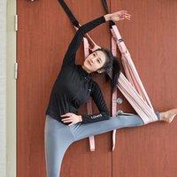 공중 요가 해먹 여성 Handstand 벨트 보디 빌딩 댄스 유연성 트레이너 홈 체육관 매달려 벨트 스윙 낮은 허리 로프