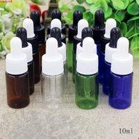 10 مل 0.3 أوقية براون واضحة فارغة زجاجات الزجاج البلاستيك الزجاج البلاستيك جديد parfume الضروري النفط حاويات التعبئة والتغليف السائل 50 قطع عالية Qualtit