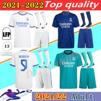 2021 2022 REAL MADRID camisas camisa de futebol 21 22 BENZEMA HAZARD SERGIO RAMOS BENZEMA VINICIUS camiseta camisa de futebol uniformes homens kit