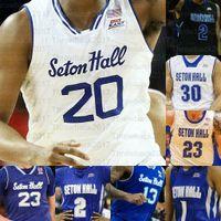 Custom Seton Hall Basketball Trikots Mamukelashvili Myles Powell McKnight Jared Rhoden Reynolds Romaro Gill Ike Obiagu Anthony Nelson
