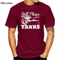 Camisetas para hombres Moda Hombres Tops Cool O Cuello Perfection Personalizado Todavía juega con tanques WWII de 1939 Panzer Po T Shirts