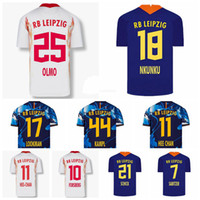 2020 2021 Futebol Rbl 25 Dani Olmo Jersey 10 Emil Forsberg 9 Yussuf Poulsen 23 Marcel Halstenberg 11 Timo Werner Camisa de Futebol Kits