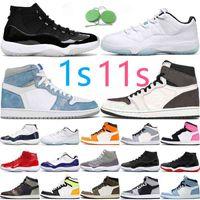 Баскетбольные туфли 11 11s Высочайшее качество 25-летие Низкая легенда синий прыжок 1 1S Travis Scotts Hyper Royal \ R Кроссовки кроссовки
