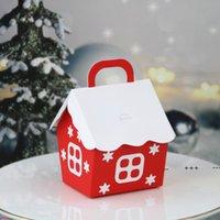 Caja de embalaje de regalo de caramelo de Navidad rojo Blanco Cartulina Kraft Caja de papel Festival Festival FWF10366