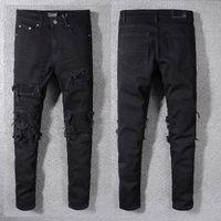 2021 New Arrivals Amiry Mens Luxury Designer Denim Jeans Holes Trousers Biker Pants Men's Clothing #569