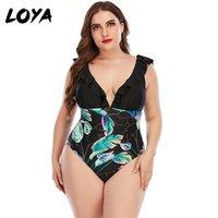 Einteiliges Anzüge Loya Plus Size Swimwear Frauen Badeanzug Tankini Set Zweiteilige swirly Paisley Print Gepolsterte Bandage Badeanzug Swimdress
