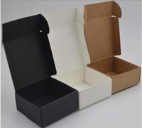 3 Size Small Kraft Paper Box Carton Packing Boxes for Gift Wedding Favor Packaging Soap Baking akes Cookies Chocolate Packing