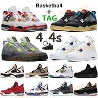 Erkekler Basketbol Ayakkabıları 4 4 S Paris Noir Guava Buz Mavi Yangın Kırmızı Metalik Mor Yeşil Siyah 2020 Bred Rasta Spor Sneakers