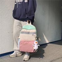 Student's Hand-held Schoolbag Female Korean Version Harajuku Large Capacity 15.6 Inch Computer Bag Male High School Backpack TS4M