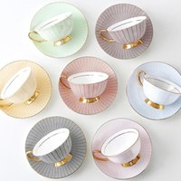 Cups & Saucers Fashion Ceramic Coffee Cup Saucer Modern Simple Afternoon Tea Porcelain Teacup Exquisite Upscale Home Decor Gifts