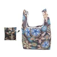 Einkaufstaschen Mode Kausal Tragbare Lagerung Umweltfreundliche Frauen Polyester Bag Beutel Falten Einfacher großer wiederverwendbarer Tote