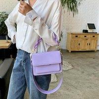 Evening Bags Chain Design Mini PU Leather Flap For Women 2021 Summer Lady Shoulder Handbag Female Fashion Cross Body Bag