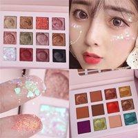 Göz Farı 12 Renkler Göz Farı Paleti Moda Kozmetik Toz Paletler Glitter Makyaj Doğal Pırıltılı Maset Güzellik 12 ml