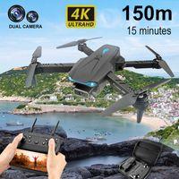 2021 Yeni S89 Pro Drone 4 K HD Çift Kamera 1080 P WIFI FPV Görsel Konumlandırma Dron Yüksekliği Korunması RC Quadcopter VS V4 Drone Y0703