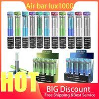 Elektronische Zigaretten Air BAR LUX MAX 1000 Puffs Einweg-Vape-Pens Device Kit-Pods Vorgefüllte Airbar