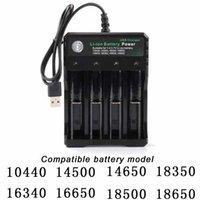 Şarj Edilebilir Li-Ion Pil 4 Yuvaları 18650 14500 Piller USB Şarj Akıllı Şarj 4x Pil 9900mAh 3.7 V 2/3 Yuvaları