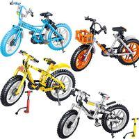 Serie de bicicletas Niños y niñas Montaje de juguete Bloque de construcción Modelo Muebles de escritorio Muebles Rompecabezas Montaje Pequeño Bloque de construcción de partículas