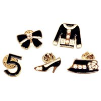 ABS لؤلؤة الملابس إلكتروني 5 حذاء كاب القوس دبابيس دبابيس يصل cnaniya مجوهرات طوق دبوس بروش قميص شال حجاب أكياس الملحقات