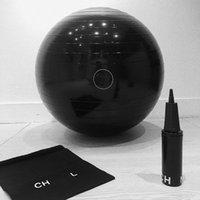 Spalding CHAN N EL Black Yoga Ball Relefree Gym Exercise Balls Anti-Burst Balance Pilates Stability Training Physical Therapy