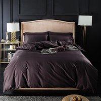 Bedding Sets 44Premium Cotton Luxury Ultra Soft Set Multi Solid Color Single Duvet Cover Bed Sheet Pillowcases