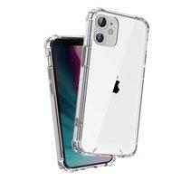 IPhone 12 11 Pro Max Mini XR XS X 6 7 8 Artı Hibrid TPU PC Şeffaf Temizle Zırh Sağlam Kılıf
