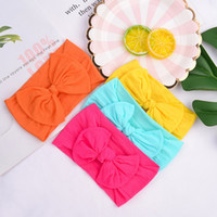 Solid Baby Headbands 20 Colors Bow Hair Bands Infant Soft El...