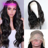13*6 Lace Front Wig Indian Virgin Human Hair Body Wave 10-30inch Natural Color Average Size Hairs Product Wigs Yirubeauty