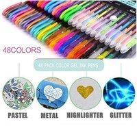 12 цветных гелевых ручек набор металлических пастельных блеск школьные канцтовары маркер DIY эскиз рисования рисунок рисунок рисунка ручка для ki jlltgr