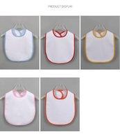 التسامي فارغة الطفل مريلة diy نقل الحرارية الطفل تجشؤ الملابس الداخلية ماء مريلة طفل المنتج 5 ألوان