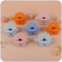 Cartoon dinosaur silicone Teethers pacifier soothing baby Molar teething toy M3849