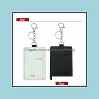 Bags Storage Housekee Organization Home & Gardensublimation Card Holder Pu Leather Blank Credit Cards Bag Case Heat Transfer Print Diy Holde