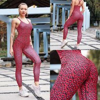 Yoga Outfits Sexy Leopard Print Set Fitness Tracksuit Gym Clothes For Women Tank Top Leggings Conjunto Deportivo Mujer