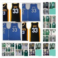 الرجعية خمر كرة السلة لاري 33 الطيور الفانيلة مخيط راجون 9 روندو راي 20 ألين الفانيلة الأخضر الأبيض