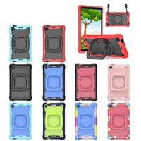 Heavy Duty Full Body Case Shockproof Hybrid Robot Kids Safe Rugged With 360 Rotating Handle Grip Stand Shoulder Strap For Samsung Galaxy Tab A7 Lite 8.7 T220 T225
