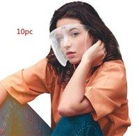 Impermeável Anti-nevoeiro Splash Gotas Blocc Face Shield Reusável Transparente PVC rosto Capa Completa Visitas Respiráveis Durável Máscara 253 S2