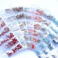Décorations d'art de ongles 31 couleurs 3D DIY SS3-SS10 Petites tailles Strass en verre pour la décoration Gems Low Cost Vrac
