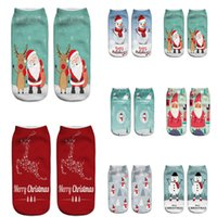 Christmas Socks 3D Printed Pattern Santa Claus Emoticons Men And Women Soft Texture Socks Christmas Gift 12 Style