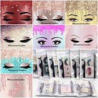 12 Eyelashes di visone 3D Stile con Glue Eyeliner Lash Tweezer Natural Faux Mink Eye Lashes GRATIS Personalizza logo Handmade Spessore ciglia finte