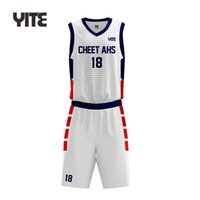 Quicky dry mesh youth shorts basketball jersey uniform design color white
