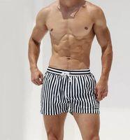 Bathing Suit Striped Printed Swimwear Men Swim Briefs Sexy Bikini Surfing Swimming Trunks Quick Dry Swimsuit Beach Shorts Men's