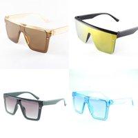 Унисекс мода квадратные дети солнцезащитные очки ребенка негабаритные оттенки винтажного бренда дизайнер серебряные зеркало детские очки популярные солнцезащитные очки 430 U2