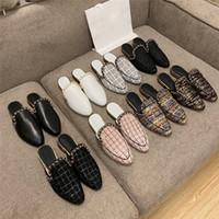 Zapatillas de marca de Umida para mujer Puntas puntiagudas zapatillas de alta calidad zapatos de mujer de cuero genuino zapatos de diseño de lux de la marca de diseñador