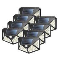 8 ADET 100 LED'ler Güneş Işıkları Açık Güneş Enerjili Hareket Sensörü Işıkları Açık Duvar Işık Gece Lambası
