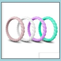 Band Jewelryfashion Ring Wedding Bands For Women Fashion Sile Rubber Flexible Rings Thin And Stackable Girls Lady Jewelry Ps1693 Drop Delive