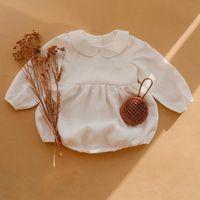 Melario Baby Girl Rompers 솔리드 0-2Y 봄 가을 신생아 아기 옷을 입은 소녀 긴 소매 jumpsuit 옷 outfi