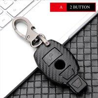 Carbone Fibre Car Keychain Key Chound Counter Case для Mercedes Benz CLS CLA GL R SLK AMG A B C S CREAD SHELL KILCCHAIN