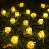 Solar String Lights, Outdoor Solar Power Globe Lights Waterproof Crystal Ball Lighting for Patio, Lawn, Garden, Wedding, Party, Christmas Decorations