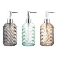 Dispensador de sabão líquido 400ml dispensadores de vidro transparente garrafa portátil casa de banho de cozinha